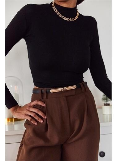 XHAN Siyah Sırtı Bağlamalı Bluz 1Kxk2-44706-02 Siyah